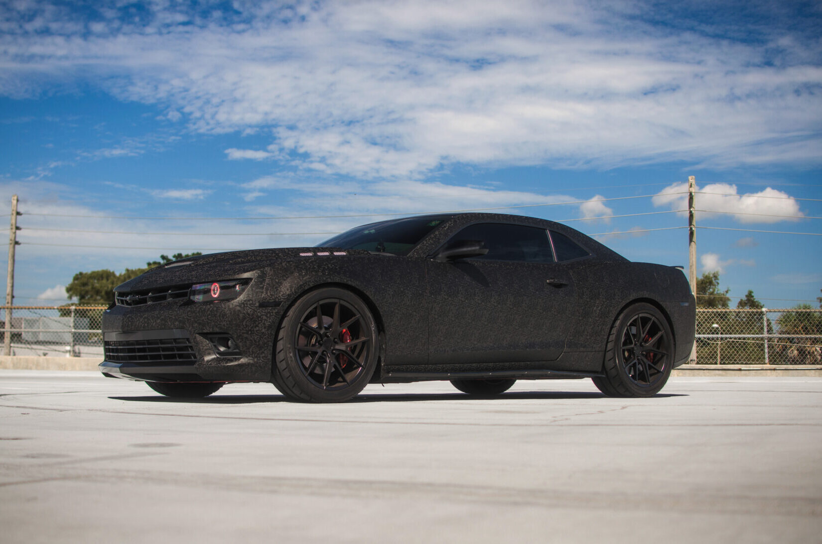 Carwrap chevorolet camaro i 3M 1080 Shadow Black